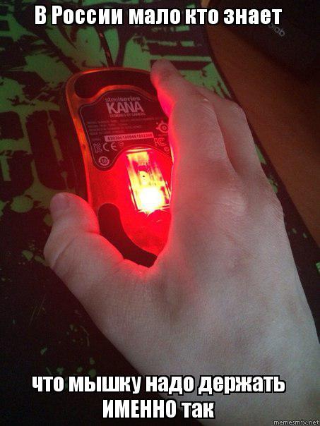 082bdb4c8223 В России мало кто знает что мышку надо держать ИМЕННО так, Мем