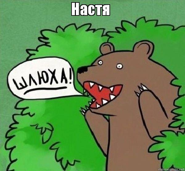 медведь орущий из кустов шлюхи