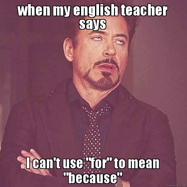 What Does My English Teacher Mean?
