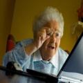 Бабушка в интернете