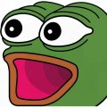 Поггерс - лягушонок Пепе с открытым ртом