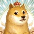Собака доги с короной