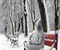 Ждун зимой в ожидании чуда