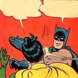 мем Бэтмен бьет по лицу