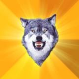 мем Смелый волк