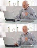 мем Дед с ноутбуком. Гарольд