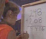 мем Девушка складывает числа