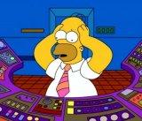 мем Гомер Симпсон в панике