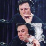 мем Илон Маск курит