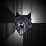 мем Безумный волк