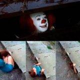 мем Клоун в канализации - Оно