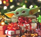 мем Малыш Йода поздравление с новым годом