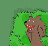 мем Медведь из кустов