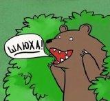 мем Медведь кричит шлюха