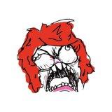 мем Месячные - лицо ярости