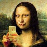 мем Мона Лиза - Селфи