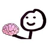 мем На, у тебя выпало. Мозг