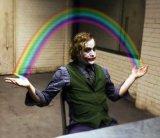 мем Радуга в руках Джокера