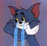 мем Том в слезах