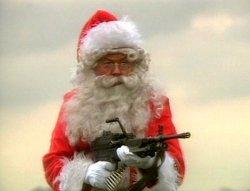 Дед Мороз с пулеметом