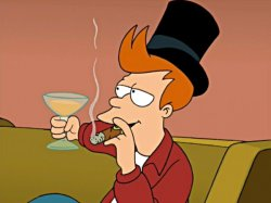 Фрай из футурамы курит