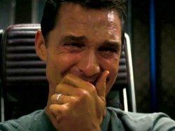 Интерстеллар - мужчина плачет