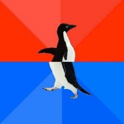 Крутой социофоб пингвин