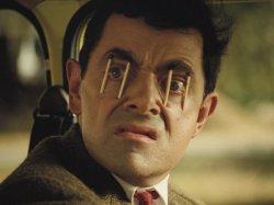 Мистер Бин и спички в глазах
