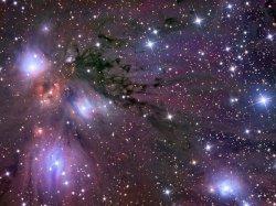 Надпись на фото космос
