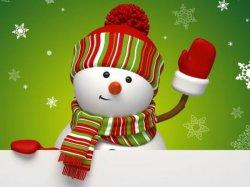 Снеговик - с Новым Годом