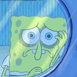Спанч Боб грустный