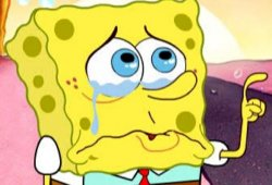 Спанч Боб плачет
