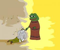 Зеленая лягушка и бомж